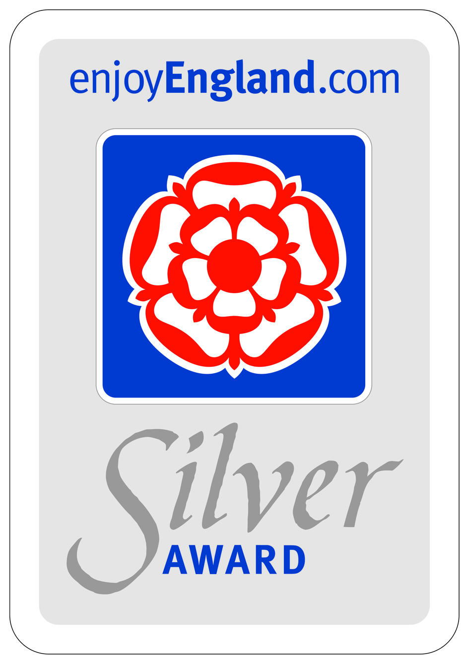 We were awarded a silver enjoy england award.